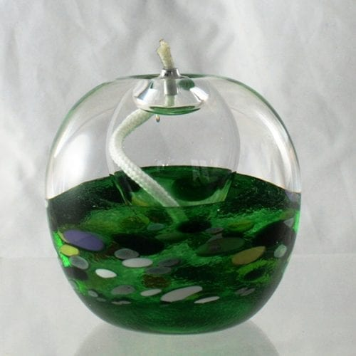 glass oil candle