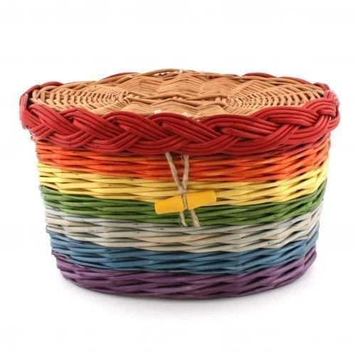 Rainbow Willow Casket
