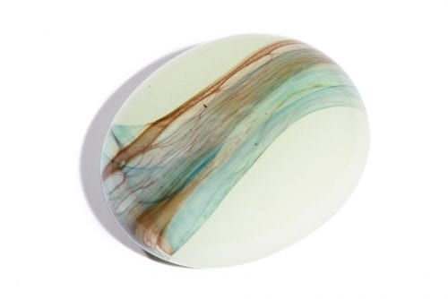 glass comfort stone pebble ashes within glass