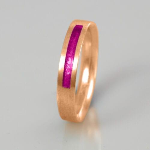Wedding Band - April Pink Diamond