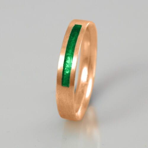 Wedding Band - Emerald - May