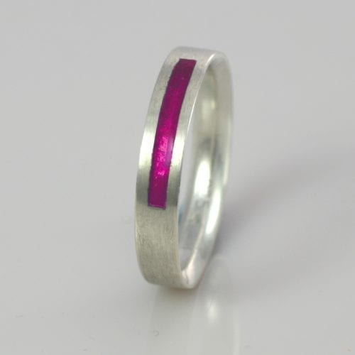 April Pink Diamond Wedding Band