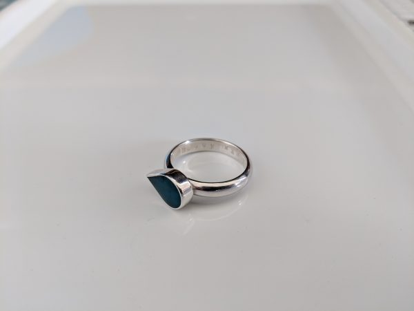 birthstone teardrop ashes ring