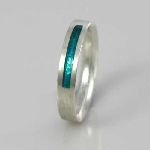 December Turquoise Wedding Band