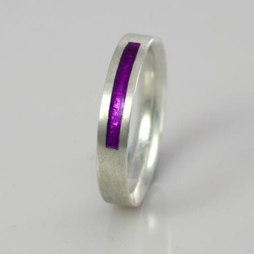 February Amethyst Wedding Band