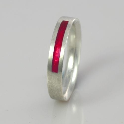 July Ruby Wedding Band