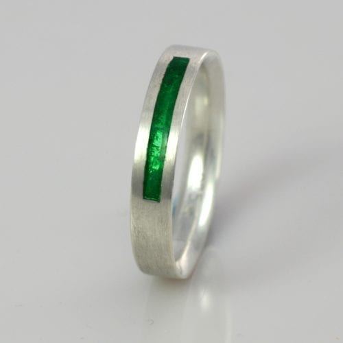 May Emerald Wedding Band