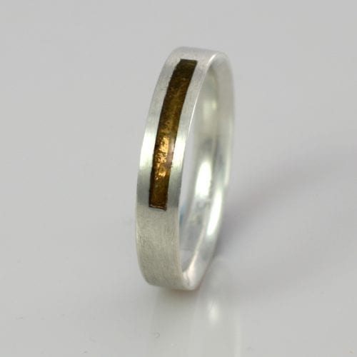 November Topaz Wedding Band