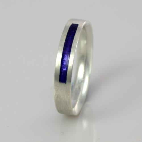 September Sapphire Wedding Band