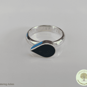 birthstone teardrop ashes ring