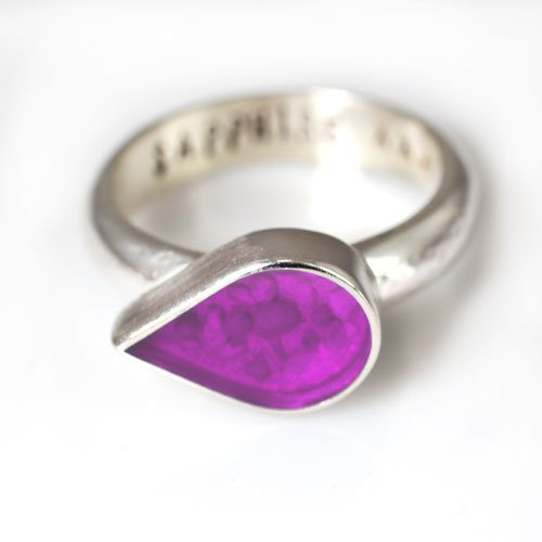Ashes Jewellery - Silver Teardrop Ring