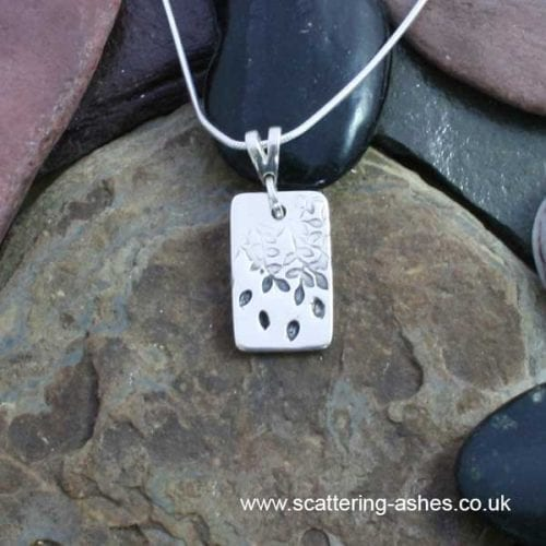 Tree of Life Tag Pendant -Ashes into Jewellery UK