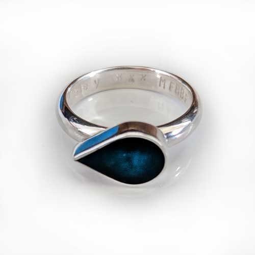 Ashes Jewellery - Blue Teardrop