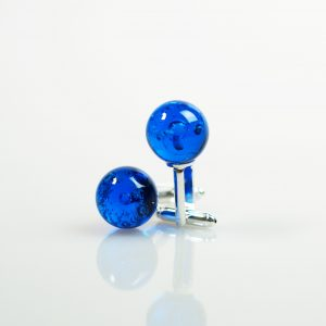 Blue Halo Cufflinks: Ashes into Jewellery UK