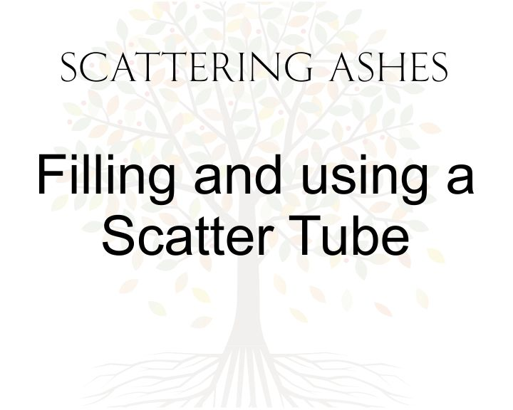 filling and using a scatter tube