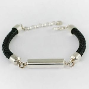 Mens leather bracelet - ashes Jewellery