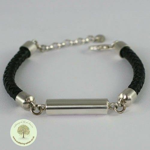 memorial leather bracelet