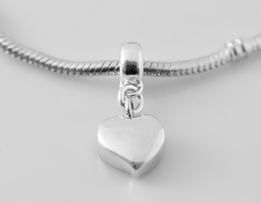 Silver Pandora Charm Ashes Jewellery Scattering Ashes
