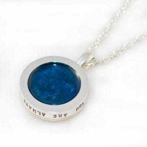 Ashes Jewellery - Starry Night Pendant - September Sapphire