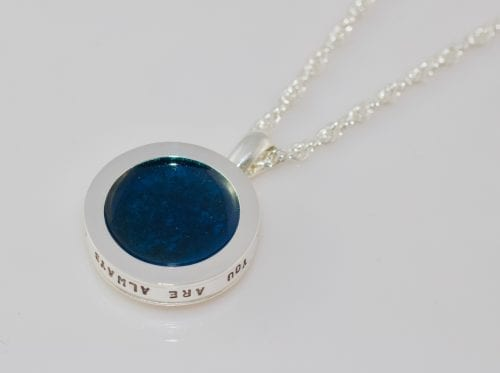 silver memorial necklace - Ashes into Jewellery UK