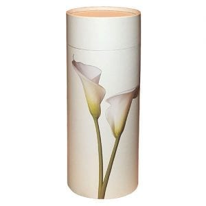 White Lily scatter tube