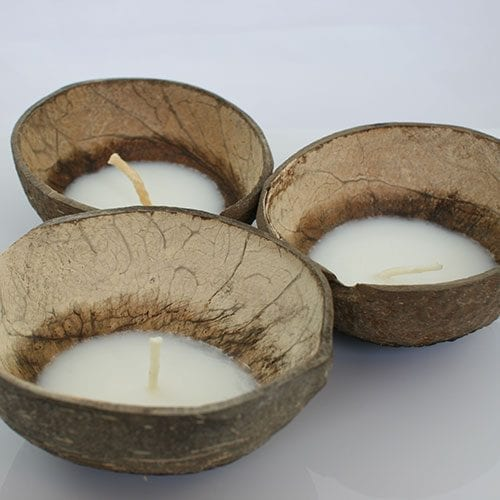 Ceremony Floating Coconut Shell coconut Candles