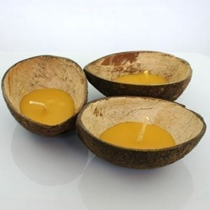Ceremony Floating Coconut Shell Beeswax Candles