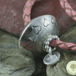 Ashes Jewellery Leather bead Bracelet