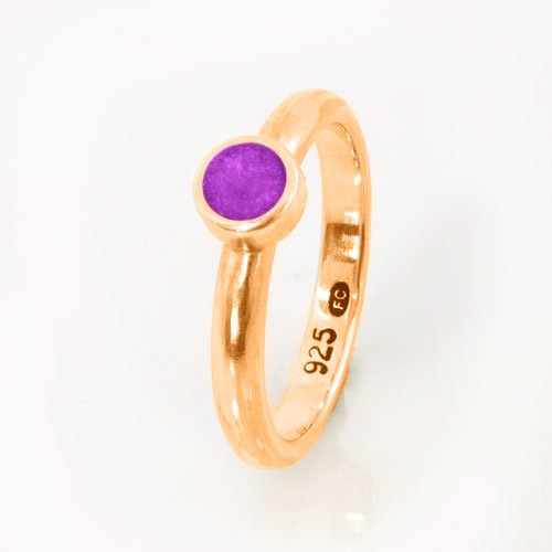 Ashes Jewellery-Elegance Ashes Memorial Ring - Amethyst February