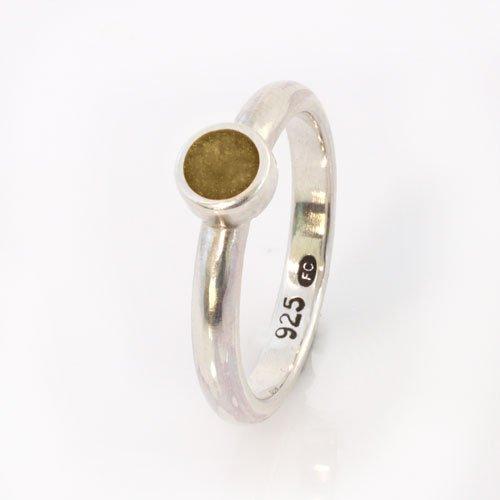 Ashes Jewellery-Elegance Ashes Memorial Ring - Topaz November