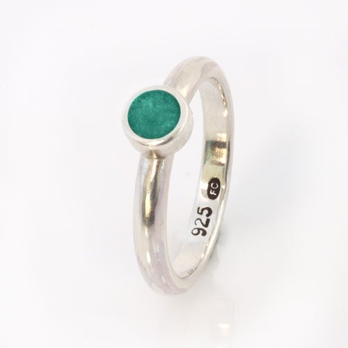 Ashes Jewellery-Elegance Ashes Memorial Ring - Aquamarine March