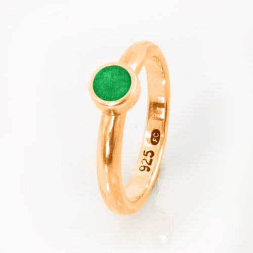 Ashes Jewellery-Elegance Ashes Memorial Ring - Emerald May