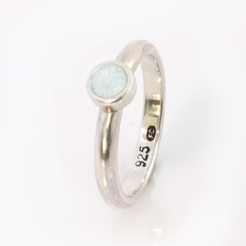 Ashes Jewellery-Elegance Ashes Memorial Ring - Pearl June