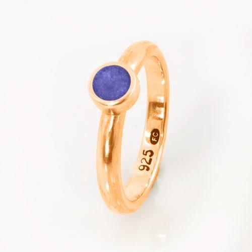 Ashes Jewellery-Elegance Ashes Memorial Ring - Sapphire September