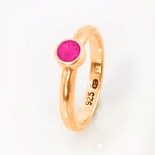 Ashes Jewellery-Elegance Ashes Memorial Ring - Tourmaline October