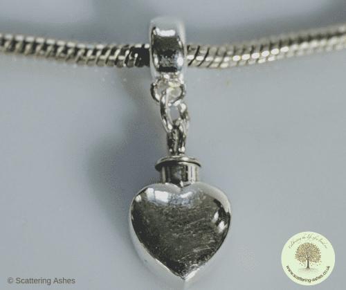 Silver Pandora Heart Charm