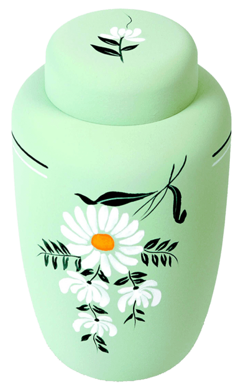 Eco Urn with Daisy Motif