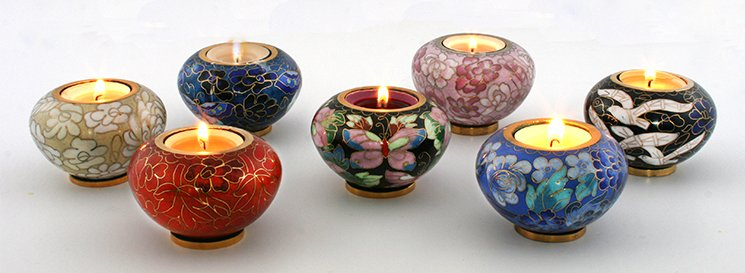 Keepsake Tea tea lights ashes