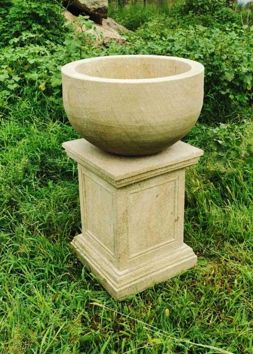 Memorial garden planter for ashes