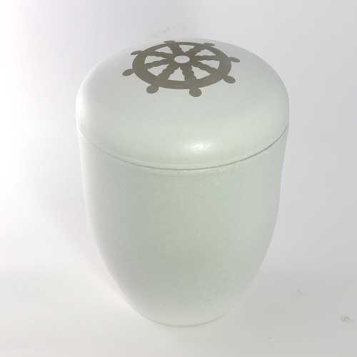 Buddhist Wheel Water Urn