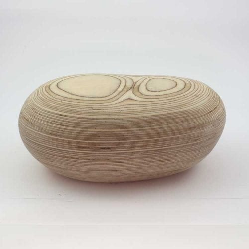 Wooden Pebble Ashes Cremation Urn