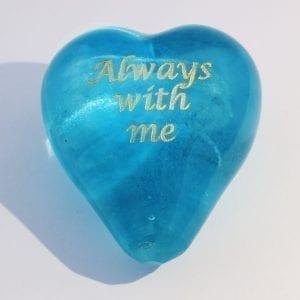 ashes glass heart memorial