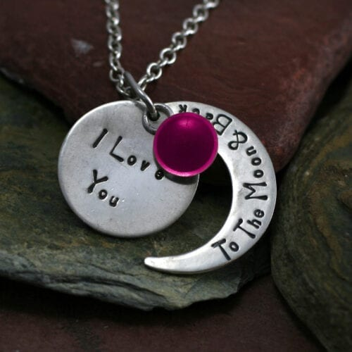 Ashes Jewellery-Moon and back pendant - Oct Tourmaline
