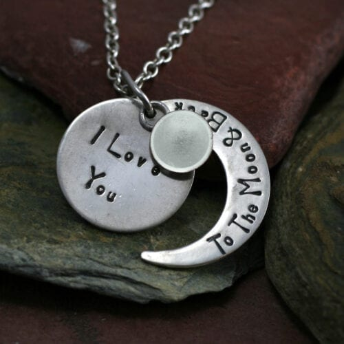 Ashes Jewellery-Moon and back pendant - June Pearl