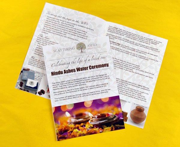 Leaflet: Hindu Ashes Water Ceremony